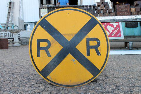 Cool railroad sign, 36
