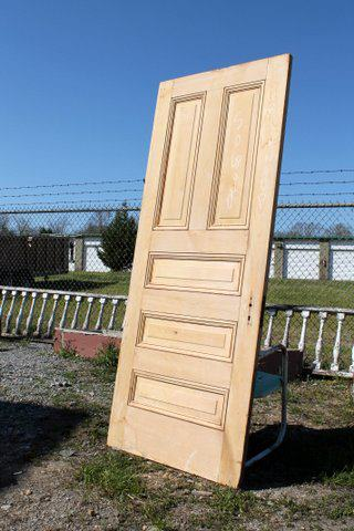 Stripped cypress doors from St. Louis, sturdy and beautiful. Dimensions: 34