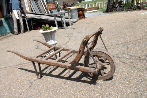 Old world garden cart. Dimensions: 19