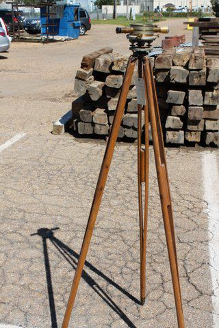 1920's Bostrom Brady Contractor's Level complete with tripod, plumb bob, and manual all in the original box! Price: $575.
