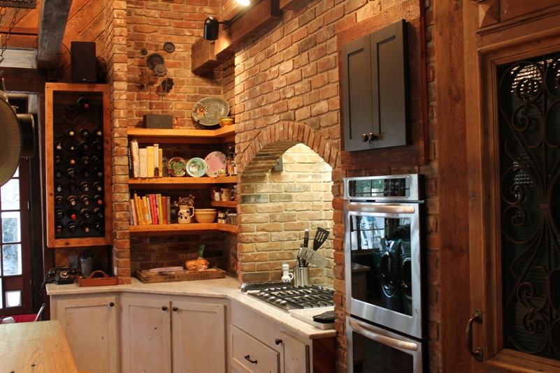 Custom made cabinets re-sawn form ancient cypress beams - Old House Depot Architectural Salvage In Jackson, Mississippi