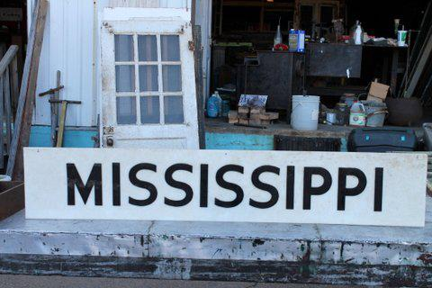 "This just in! Mississippi sign - Home of the Blues! Dimensions: 10"" (H) x 55"