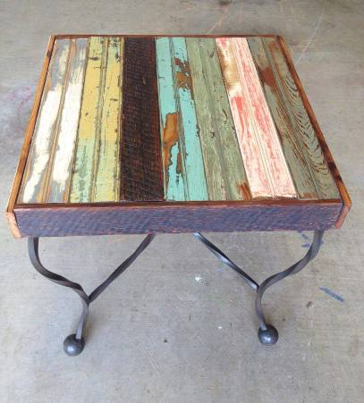 Check out this table one of our customers, Paul Boackle, was able to upcycle! Doesn't this look like a fun piece of furniture?