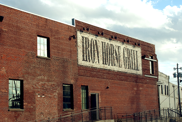 The exterior of Iron Horse Grill in Jackson, MS