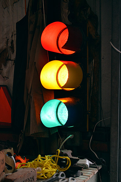 Working stoplight, cir. 1960, New York