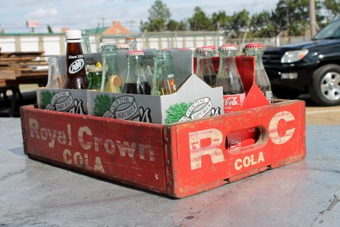 This just in! Vintage Wooden RC Cola crate. Drinks not included :) Price: $30.
