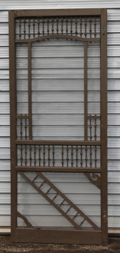 Looking for a screen door with some character? Check out this one! It's a Victorian style screen door, and its dimensions are 36