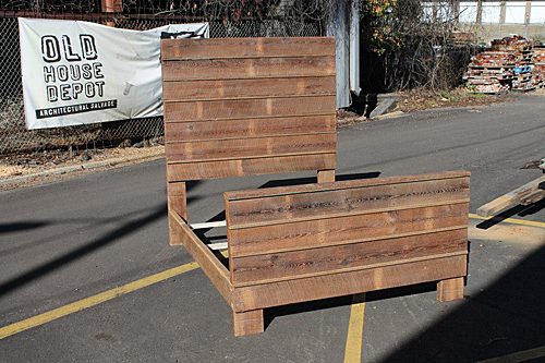 Full size custom bed frame and headboard made from reclaimed pine.<br /><br /><br><br /><br /><br><br><br /><br><br /><br /><br>