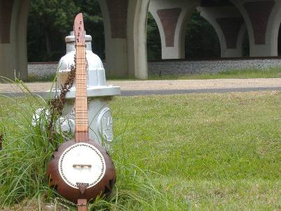 Customer Jason Smith made this incredible banjo. He used Heart Pine wood that he got from OHD to build the neck. Wouldn't you love to hear how it sounds?