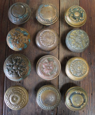 These antique decorative door knobs just came in from an 100-year-old house in St. Louis. They are selling at a great price of $15/each.