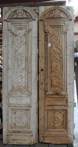 These white pine doors are from Egypt! They would work perfectly for a wine cellar or a pantry. Dimensions for each door: 25.5