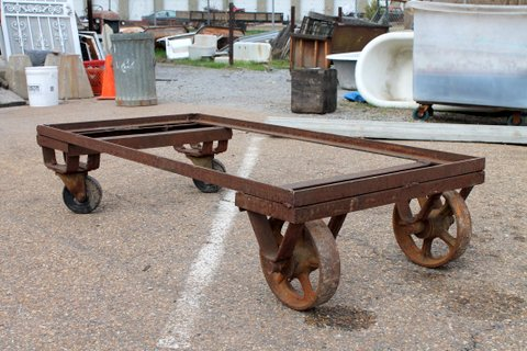 This just in! Metal industrial cart. Could be converted into a coffee table! Dimensions: 29