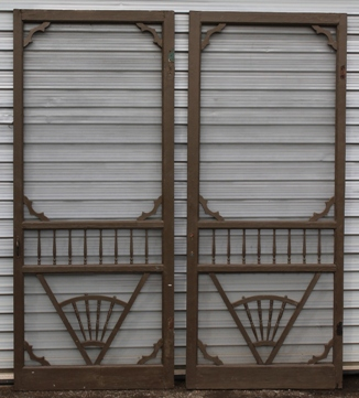 Just in! These Victorian style screen doors. Dimensions: 36